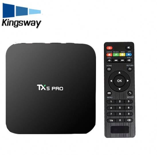 2017 Free Download Video 1080P Full Hd 1080P 4K tv box tx5 pro Android 6.0 Quad Core kodi tv box 4k