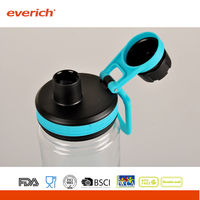 18oz / 22oz Tritan Plastic sports lid water bottle With Sports Lid And Silicone Band