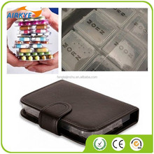 PU 7 Day Pill Wallet Box Medicine Tablet Holder Organiser Storage Travel Dispenser