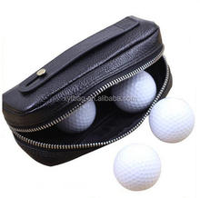 New design hot selling Mini portable top PU golf ball bag