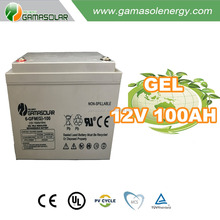 Gama Solar GEL 12v 100AH car battery for ups solar system kits long life