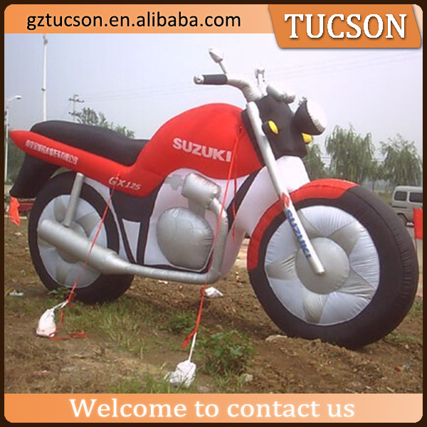 Advertising replica of motorcycle model/ inflatable motorcycle for sale