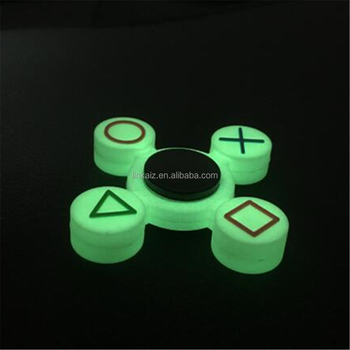 Cheap items to sell light hand spinner fidget pvc parts