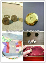 High quality brass ball buttons magnetic button for leather