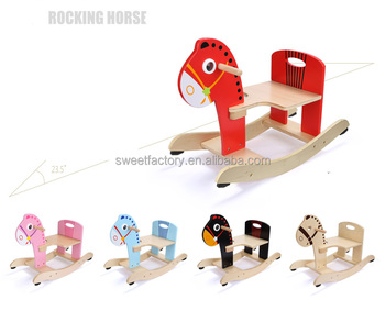 Wooden balanced rocking horse for kids
