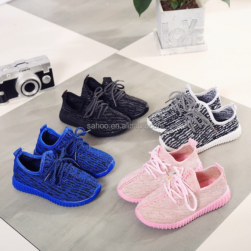 Best selling flyknit sport shoes for kids in stock low price discount