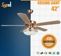 "42"" dc inverter decorative motor ceiling fan with light"