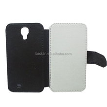 Hot selling sublimation leather flip cover for samsung galaxy S4 i9500