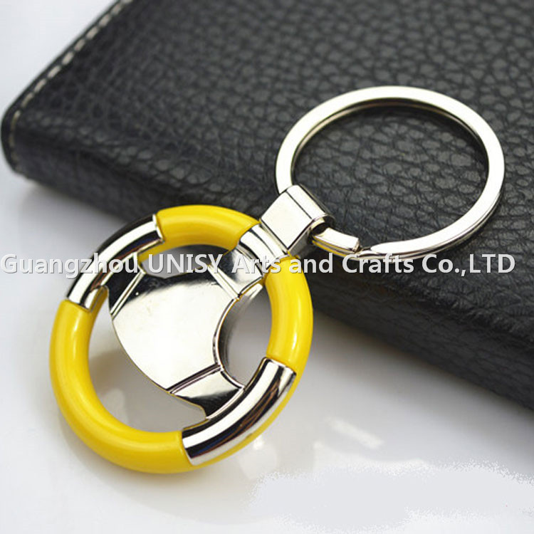 Car Steering Wheel Promotional Keyring gift /MINI Steering Wheel Metal keyring
