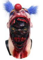 Scary Coulrophobia Bloody Gory Clown Skin on Serial Killer Halloween Costume Mask