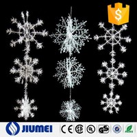 BY016 Home Decoration Plastic Snowflake Ornament