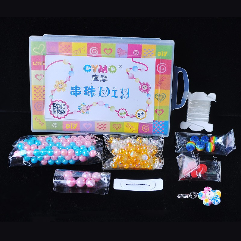 Unique Gift DIY Creative Beads Jewelry Colorful Child Craft Beads Making Kit
