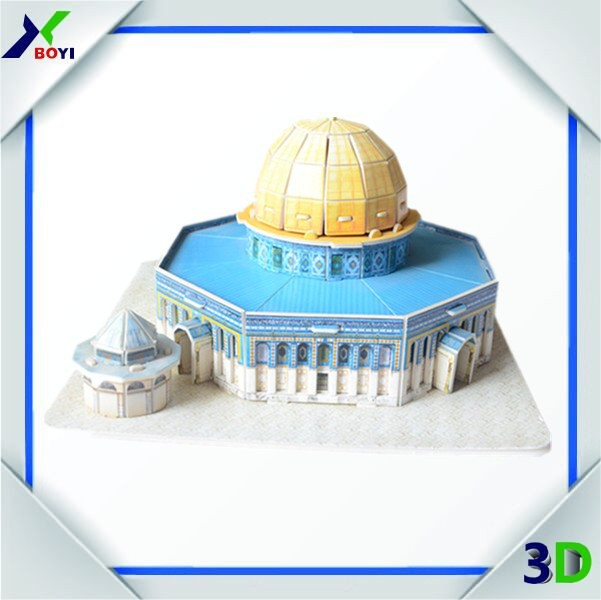 custom design 3D world architecture DIY jigsaw puzzle for promotion gift/advertising gift