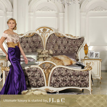 NB02-01 Rococo Style Bed Set Furniture Designed By JLC Luxury Home Furniture