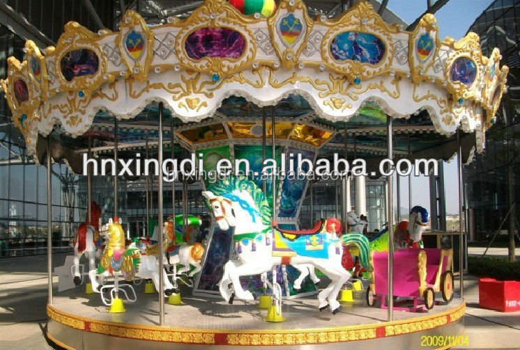 In stock!! deluxe carousel indoor children carousel rides
