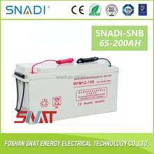 Free maintenance 100ah 200 ah deep cycle solar gel battery