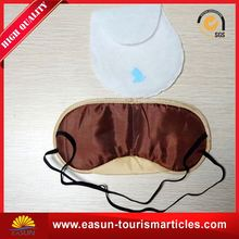 Simple plain color satin disposable eye mask logo eye patch for airline