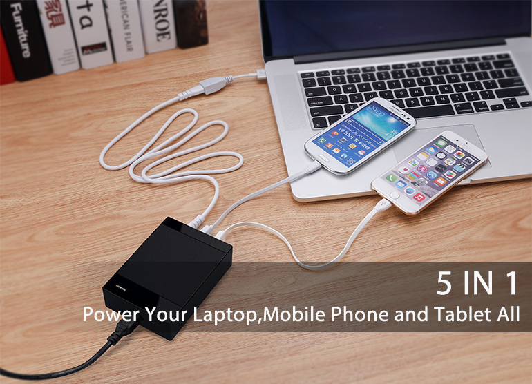 Tommox best selling 85w adapter notebook laptop charger with 4 usb power supply