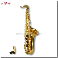 Gold Lacquer Bb Key Student Sax China Tenor Saxophone (SP0011G)