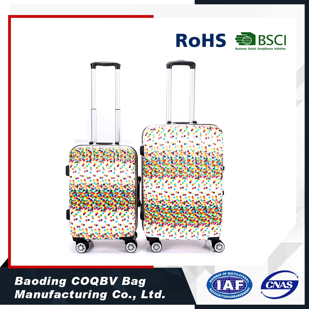 COQBV 2017 wholesale high quality new style printed luggage