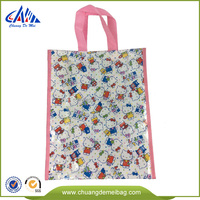 PP nonwoven tote reusable shopping bag with double layers of material