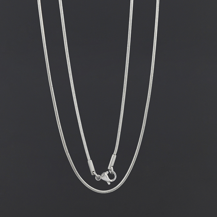 Hot Products 2018 Custom 1.5mm 2mm Stainless Steel Silver Snake Chain 24K Gold Chain
