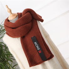 Solid Color Knitted Ladies Scarf Shawl Thick Long acrylic shawls