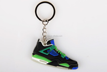 soft pvc 2d jordon keychain for basketball fan