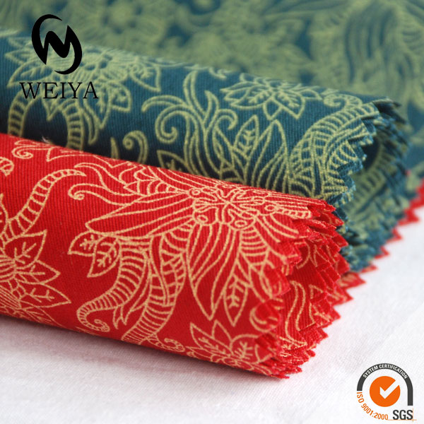 COTTON FLOWER PRINTED TWILL FABRIC