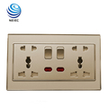 13A and 16A Double Multi-function Socket with switch