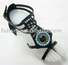 PU Beading Women Shoes Upper 2072