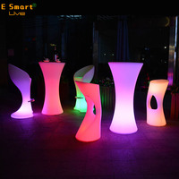 outdoor furniture RGB colorful bar club led cocktail table party tables and chairs for sale