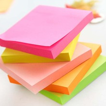 Factory sale various color paper bright neon paper custom sticky notes