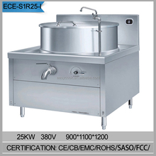 With stockpot automatic industrial steam soup cooker