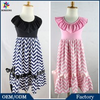 Multiple Color Giggle Moon Remake Cotton Fashion Girls Party Chevron Maxi Dress