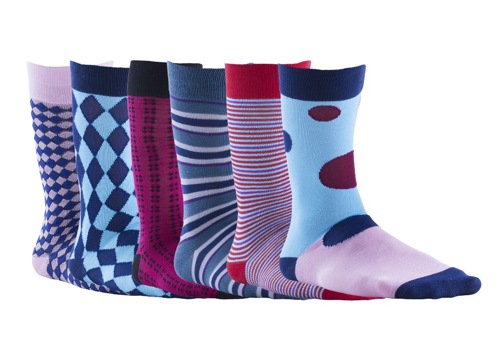 Men's high quality colorful comfortable dress socks