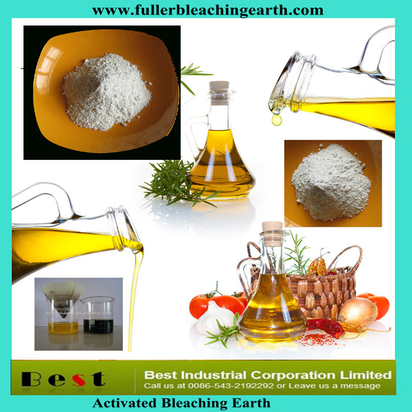 Activated activated bentonite bleaching earth clays for refining edible cooking vegetable oil