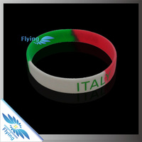 factory price segmented colors bracelets/rubber wristbands