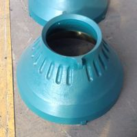 High manganese steel casting concave and mantle for coal mine equipment