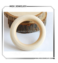 Wholesale Handmde Round Unfinished Wood Bangles Customized Size