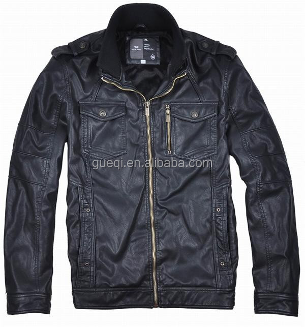 2017 mens custom design in high quality leather jacket lahore