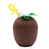New creative pp drinking coconut drink cups natural coconut drink cups with straw