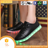 2016 Summer Hot-Sale New Model simulation led shoes with 7 led color for men
