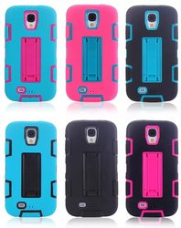 Cross Color PC+TPU Cheap Wholesale Cell Phone Case for Samsung Galaxy S4 i9500 with Stand Function