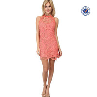 latest dress designs photos high neckline open back sexy women short pink lace party dresses 15 year girl without dress