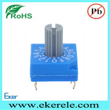 20000 Steps BCD Key-lock Type Rotary Switch For Welding Machine