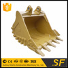25t 1.6cbm hard rock bucket with teeth for excavator applied to earth moving work