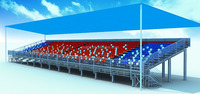 big event bleacher,aluminum tribune with functional room for car racing,horse racing