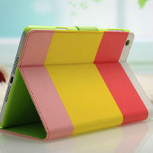 2015 Wholesale Case of China Fashion design Elegant design fashion zip wallet standing leather custom case for ipad mini