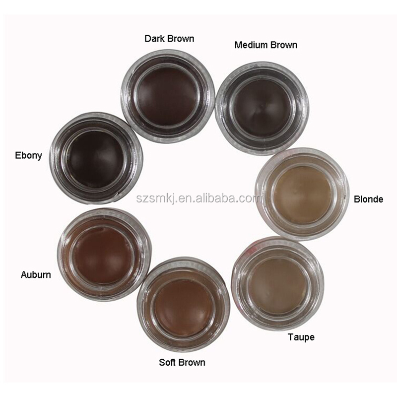 Hot sale cosmetics makeup private label waterproof eyebrow gel cream 7 colour